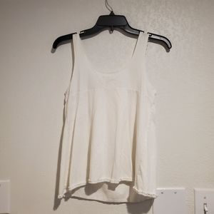 [SALE] White Sleeveless Lace Top